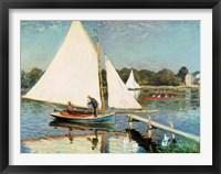 Framed Sailing at Argenteuil, c.1874