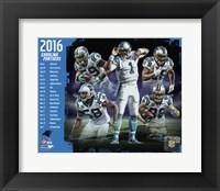 Framed Carolina Panthers 2016 Team Composite