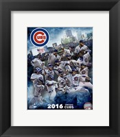 Framed Chicago Cubs 2016 Team Composite