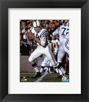 Framed Johnny Unitas 1967 Action