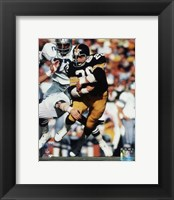 Framed Rocky Bleier Super Bowl X Action