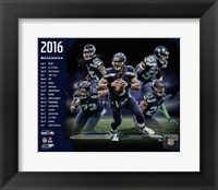 Framed Seattle Seahawks 2016 Team Composite