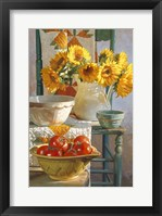 Framed Sunflowers & Tomatoes