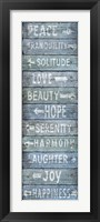 Framed Vintage Signs - Directions Blu