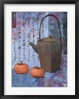 Framed Blue Teapot