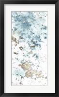 Blue Nebula I - Metallic Foil Framed Print
