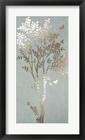 Sage Silhouette I - Metallic Foil Framed Print