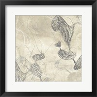 Graphite Inversion III Framed Print