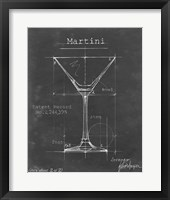 Barware Blueprint V Framed Print