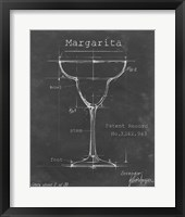 Barware Blueprint VI Framed Print