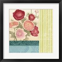 Floral Montage I Framed Print