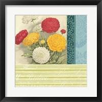 Floral Montage IV Framed Print
