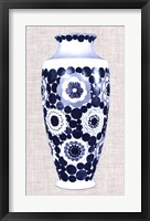 Blue & White Vase V Framed Print