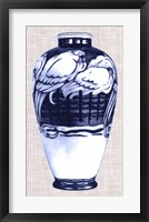 Blue & White Vase VI Framed Print