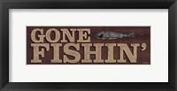 Framed Gone Fishin'