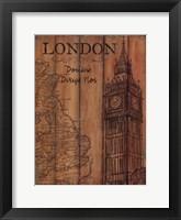London Travel Poster Framed Print