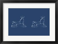2 Up - Office Supply Blueprint II Framed Print