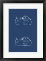 2 Up - Office Supply Blueprint III Framed Print