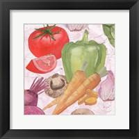 Veggie Medley II Framed Print
