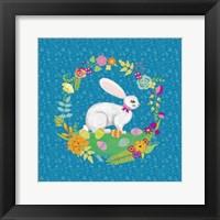 Bunny Wreath I Framed Print