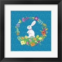 Bunny Wreath II Framed Print