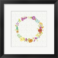 Girly Wreath II Framed Print