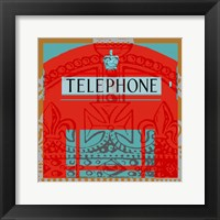 London Calling II Framed Print