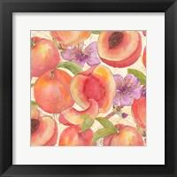 Peach Medley II Framed Print