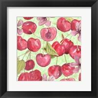 Cherry Medley I Framed Print