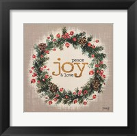 Framed Peace, Joy and Love