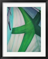Green Star Spinnaker Framed Print