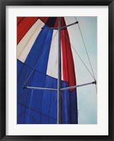 Red, White and Blue Spinnaker Framed Print
