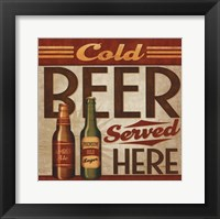 Framed Cold Beer Served Here