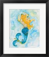 Goldie Mermaid Framed Print