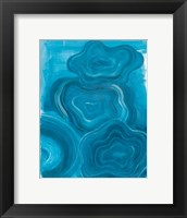 Framed Blue Agate