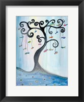 Framed Fishing Tree
