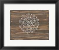 Woodgrain Mandala Framed Print