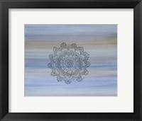 Black Lace Mandala Framed Print