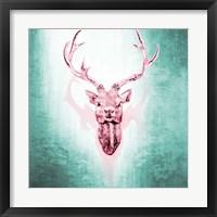 Pink Deer Framed Print