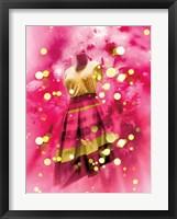 Framed Pink and Gold Dress