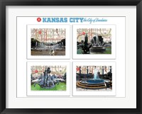 Framed KC City of Fountains