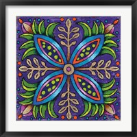 Mandala Blue Pods Framed Print