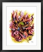 Framed Lotus Fire