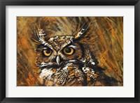 Framed Klimt Owl
