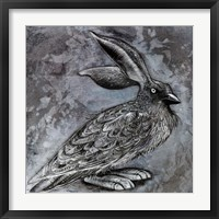 Framed Raven Rabbit