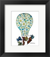 On Butterfly Wings Framed Print