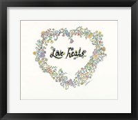 Framed Love Heals Floral
