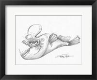 Framed Deep Sea Angler II