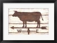 Framed Farmhouse Cow
