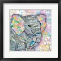 Sweet Baby Elephant I Framed Print